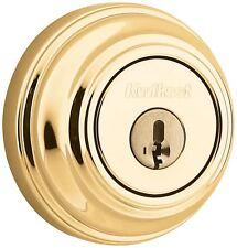 Kwikset 980 Single Cylinder Deadbolt in Polished Brass SmartKey 99800-087