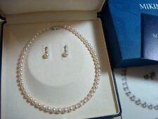 """New Authentic """"Mikimoto"""" Akoya Pearl 6.5MM~8.8MM  Necklace & 7.75MM Earring"""