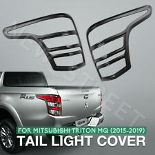 Tail Light Cover Rear Lamp Covers Matt Black for Mitsubishi Triton MQ 2015-2020