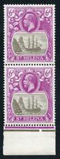 St Helena SG104 6d Grey and Bright Purple U/M PAIR