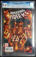 Amazing Spider-Man #581 Marvel Comics CGC 9.8 White Pages Variant Molten Man App