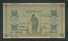 Netherland Indies 1940 2 1/2 Gulden P 109a Slight Wrinkle AU