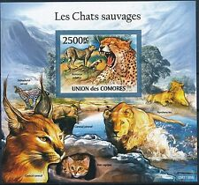 [GBIN6642] Comores 2011 Wildcats Lions Panthera Good sheet IMPERF. very fine MNH
