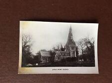 da7 postcard unused little dalby church