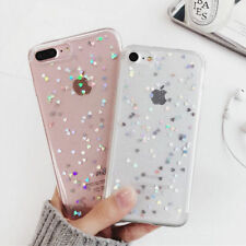 For iPhone X 6 7 8 Plus 5 5s SE Luxury Bling Star Case Clear Silicone Soft Cover