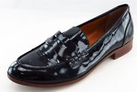 Franco Sarto Loafers Black Patent Leather Women Shoes Size 6 Wide (C, D, W)