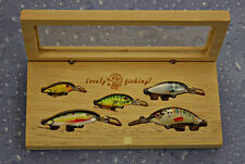 Gift Set for fishing,5 balsa lures, Luxury designed samba wood gift box