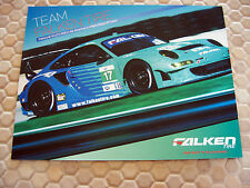 PORSCHE 911 997 GT3 RSR ALMS FALKEN TIRE RACING CAR BROCHURE DATA CARD x2 2012