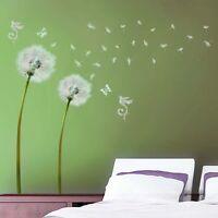 Light Green Dandelion Flower Wall Stickers art Decals Children Decor Living room