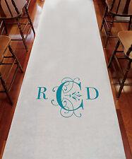 Classic Deco Monogram PERSONALIZED Aisle Runner Wedding Ceremony Decoration