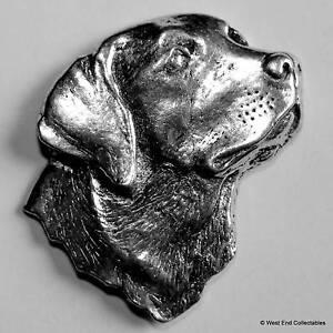 Labrador Retriever Head Pewter Pin Brooch - British Hand Crafted - Gun Dog Hunt