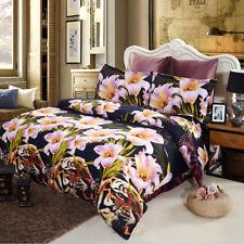 4pcs Large Bedding Set Duvet Cover Bedclothes Comforter Flat Sheet Luxury L6L6