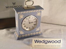 "Wedgwood  Jasper Ware "" Carriage "" Clock in Blue, Superb Condition & Rare !!!."