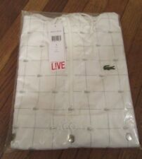 Supreme Lacoste Reflective Grid Nylon Anorak Size Large White SS18J4 SS18 DS NEW