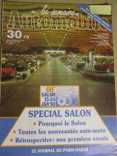 LA SEMAINE AUTOMOBILE: n°66: 16/01/1988: SALON DE BRUXELLES - PARIS DAKAR - DAF
