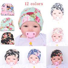 Newborn Baby Girls Boy Cotton Beanie Hat Soft Stretchy Bow Cap Infant Photo Prop