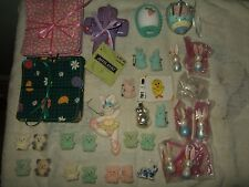 lot 38 vintage modern easter spring ornaments eggs felted bear pins bunny craft