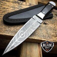 """6.5"""" DAMASCUS FULL TANG DOUBLE EDGE BOSOM DAGGER FIXED BLADE HUNTING KNIFE NEW"""