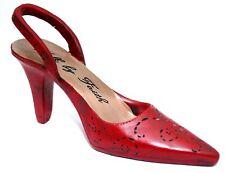 RARE NEW GORGEOUS WALK TO FAITH LARGE HEAVY RED STILETTO SHOE DECOR PAPERWEIGHT