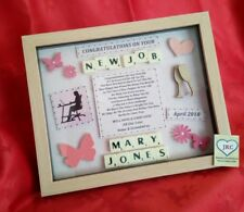 NEW JOB CONGRATULATIONS PERSONALISED FRAME GIFT KEEPSAKE PLAQUE PICTURE