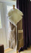 Ladies Long Faux Fur Gilet. Size 12.  BNWT.