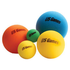 """US Games 6"""" Uncoated Economy Foam Balls (Colors Will Vary)"""