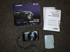Canon PowerShot SX610 HS 20.2MP Wifi Digital Camera 18x Optical Zoom Charger Box