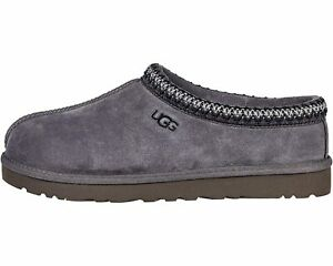 UGG Men's TASMAN Casual Comfort Sheepskin & Suede Clog Slippers DARK GREY 5950
