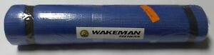Wakeman XL Thick Yoga Mat Foam Pilates And Workout With Fitness Carry Strap Blue
