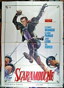 manifesto 4F film SCARAMOUCHE Stewart Granger George Sidney cappa e spada