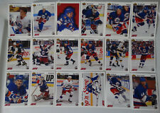 1991-92 Upper Deck UD Winnipeg Jets Team Set of 18 Hockey Cards