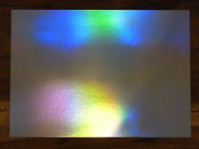 20 SHEETS OF A4 SILVER RAINBOW HOLOGRAPHIC CARD IN 240 gsm