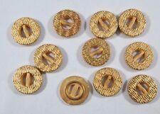10 Stück Metallknöpfe Knopf Knöpfe  18 mm gold NEUWARE rostfrei #927#