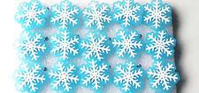 25Pcs Christmas snowflake Flashing LED Light Up Badge/Brooch Pins Christmas gift