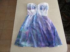 Women's COOPER ST Size 6 AU Strapless Mini Dress Purple Blue White Near New