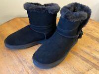 Lamo Thalia Water & Stain Resistant Suede Tassel Ankle Boots Women 10 M Black