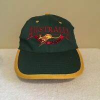 Australia Down Under Kangaroo Travel Vintage 90's Adult Mens Snapback Hat Cap