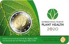 1x 2euro commémo. Belgique 2020 Plantes coincard Type I Française (neuve)