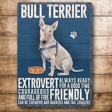 BULL TERRIER, Colourful Metal fridge magnet, DOGS