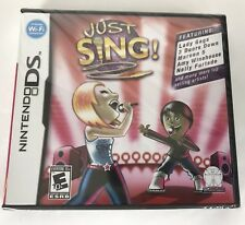 Just Sing (Nintendo DS, 2010) New Sealed