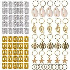 Hair Jewellery Rings Dreadlock Accessories Clips Braiding Cuff Decorations x80
