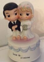 Kim Casali Love is Promising Music Box~Wedding March Cake Topper~Clean&Sanitize
