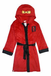 Ninjago Boys Kai Costume Plush Robe Size 4/5 6/7 8 10/12