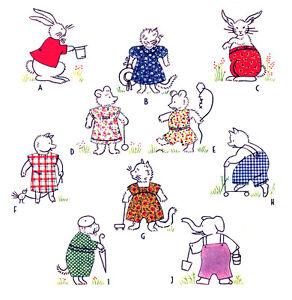 Vintage Pattern ~ Animal w/ Applique Clothes