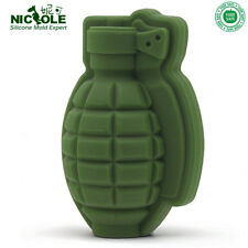 Ice Cube Mold Grenade Shape 3D Silicone Cocktail Whiskey Bar Party Food Grade A