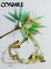 Handwork Acrylic Tassels Bamboo Dragonfly Hairpin Kanzashi for Hanfu Kimono Sa