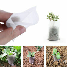 US 100x Nursery Pots Plant Flower Seeding Raising Bags Container Garden Supplies