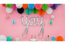 Silver Yay Balloon Birthday Party Decoration Genuine USA made NorthStar brand