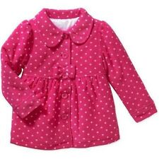 Healthtex Infant Girls Hot Pink/White Polka Dot Peacoat Jacket w/Bow Front 18 Mo