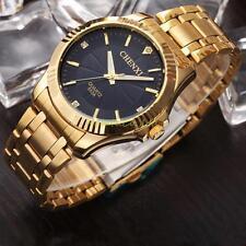 NATATE CHENXI Mens Full gold Luxury Stainless Steel Quartz Wrist Watches